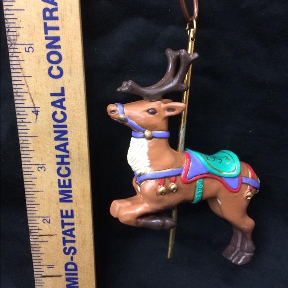 American Greetings Other - American Greetings Carousel Reindeer Ornament 1993